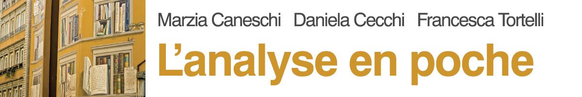 libro0 Caneschi, Cecchi, Tortelli, L'analyse en poche