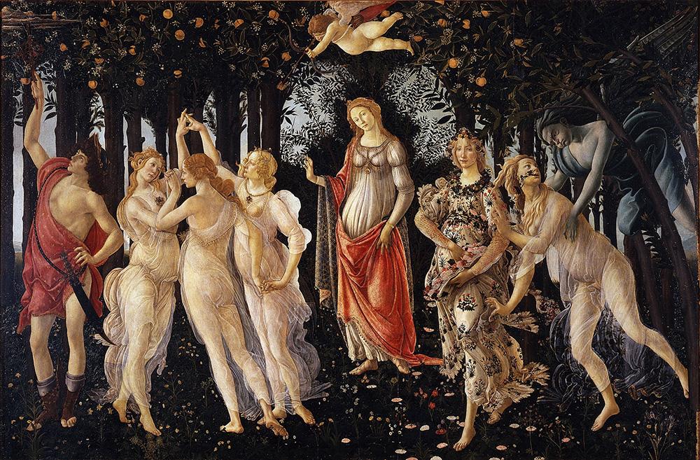 quadro della Primavera di Botticelli
