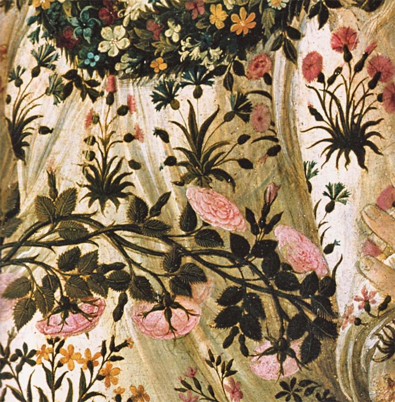 le rose nella Primavera di Botticelli
