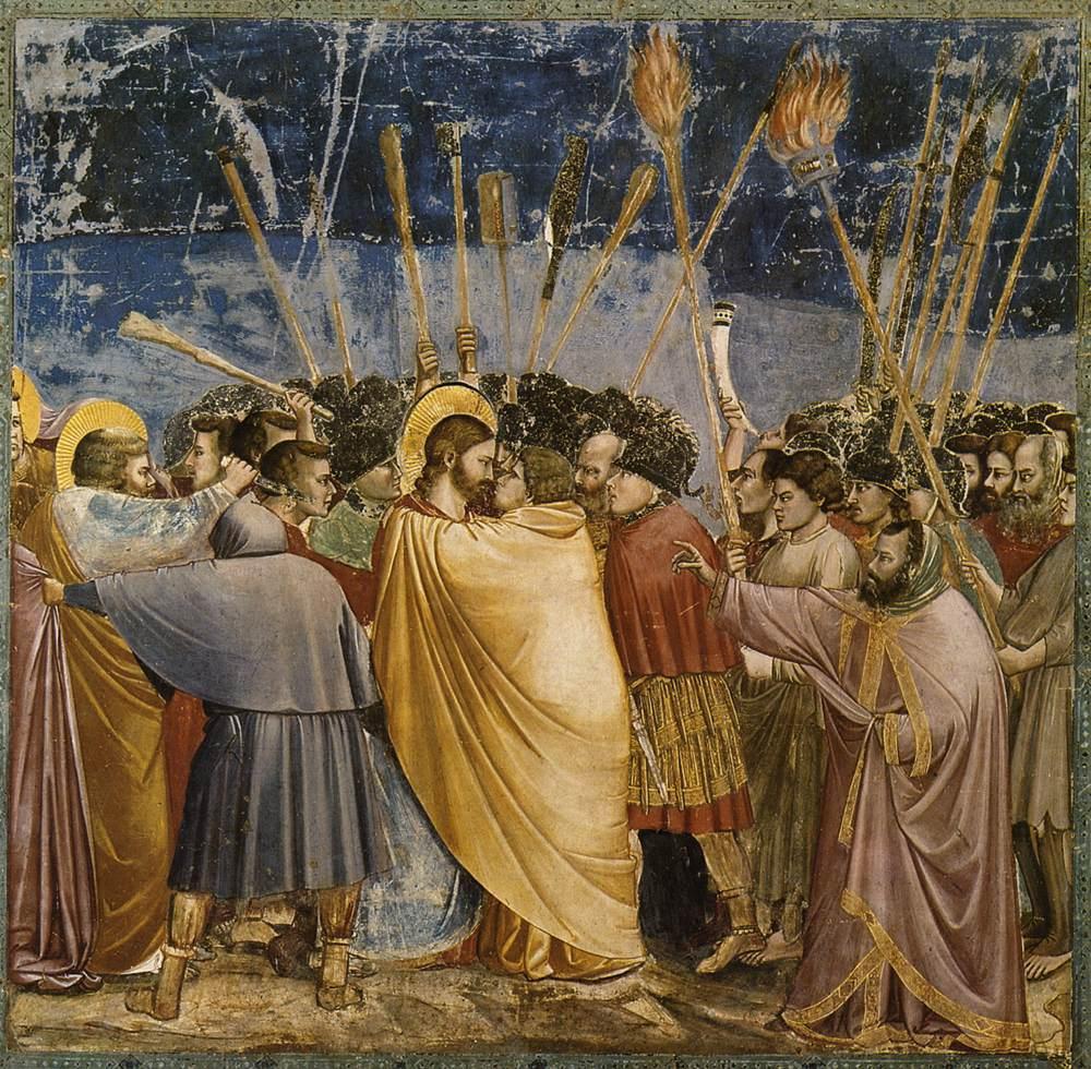 bacio di Giuda di Giotto