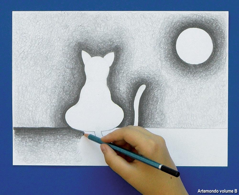 disegnare una sagoma di gatto