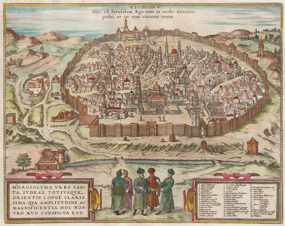 Mappa di Gerusalemme del 1526