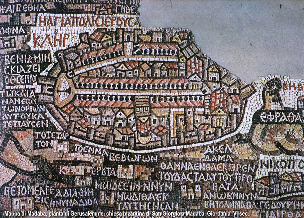 mappa di Gerusalemme