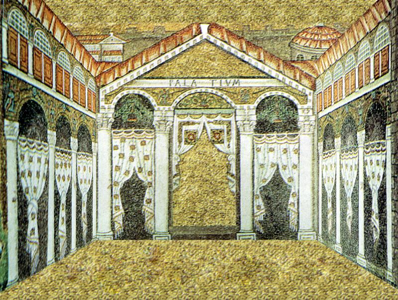 mosaico bizantino tridimensionale