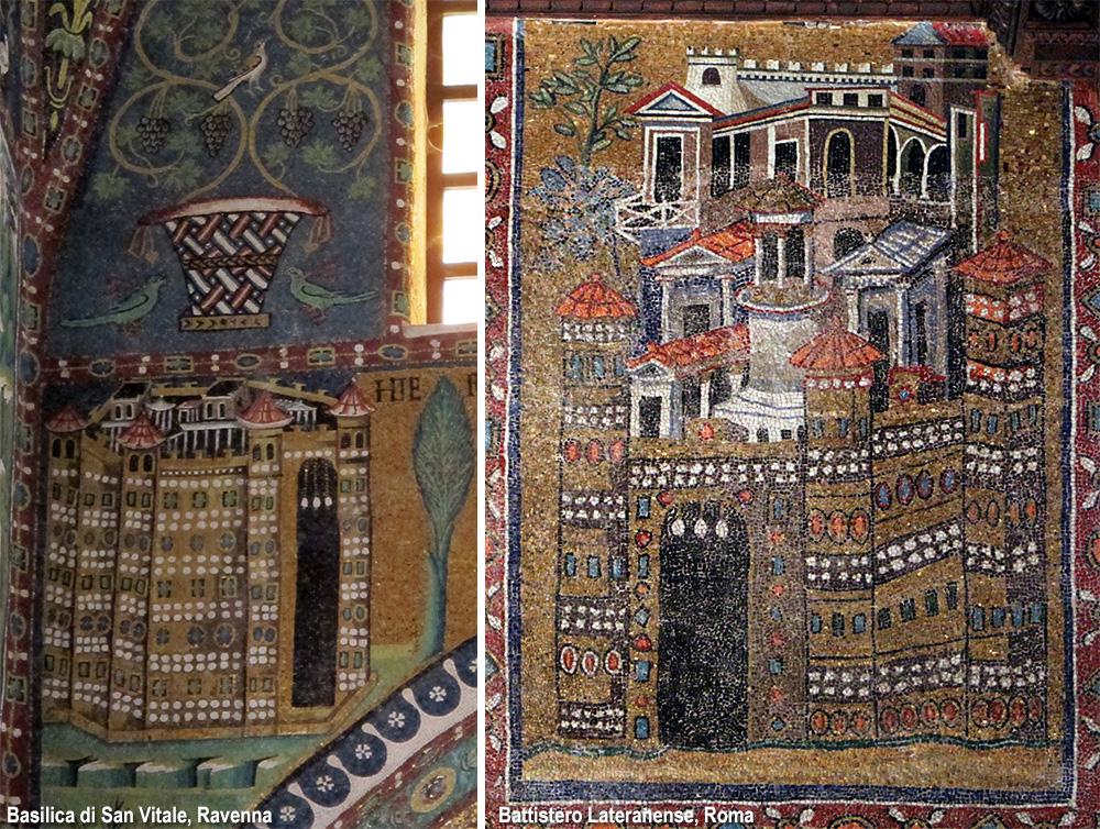 città nei mosaici bizantini