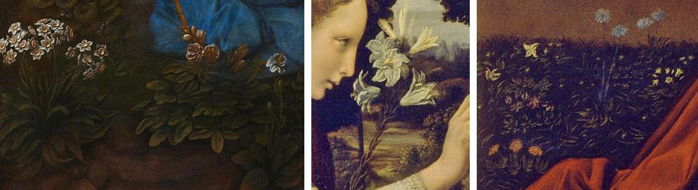 fiori nei dipinti di Leonardo