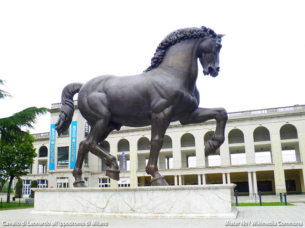 monumento dal progetto di Leonardo