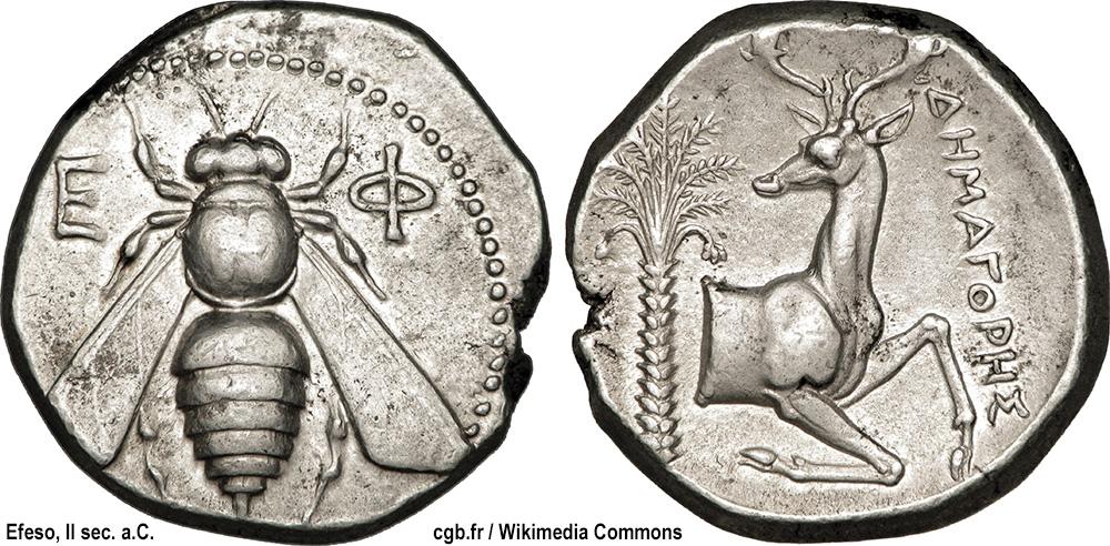 moneta di Efeso con ape