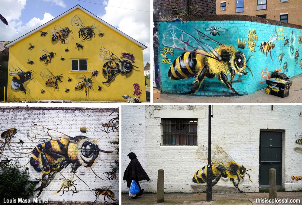 murale salvare le api