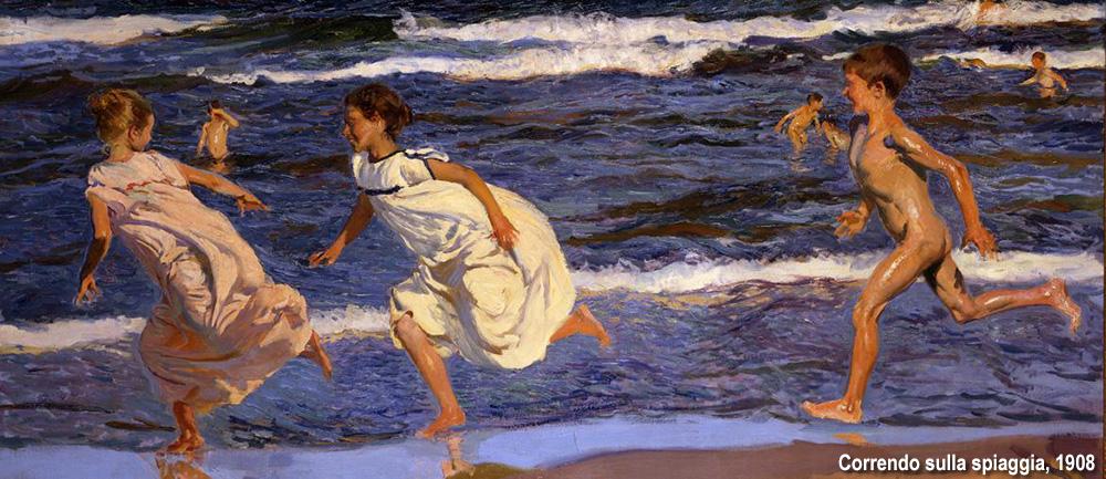 correndo sulla spiagga