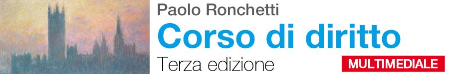 libro0 Ronchetti, Corso di diritto. Terza edizione