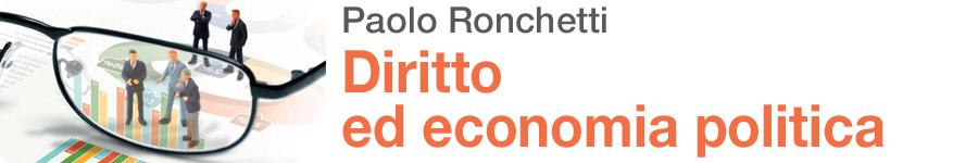 libro1 Paolo Ronchetti, Diritto ed economia politica